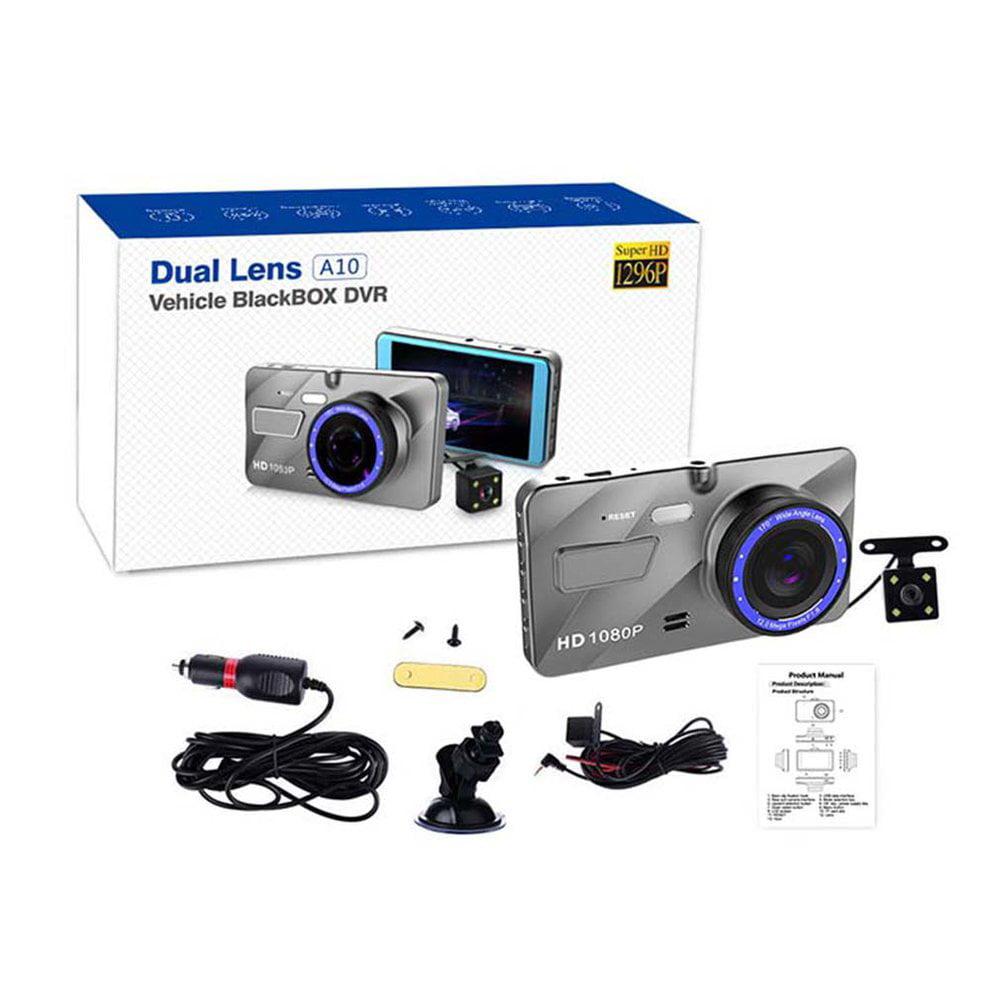 4.0 inch Dash Cam Car Vehicle Blackbox DVR Video Recorder HD 1080P Dual Lens   Walmart Canada