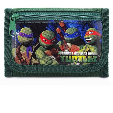 Teenage Mutant Ninja Turtles Authentic Licensed Green Trifold Wallet