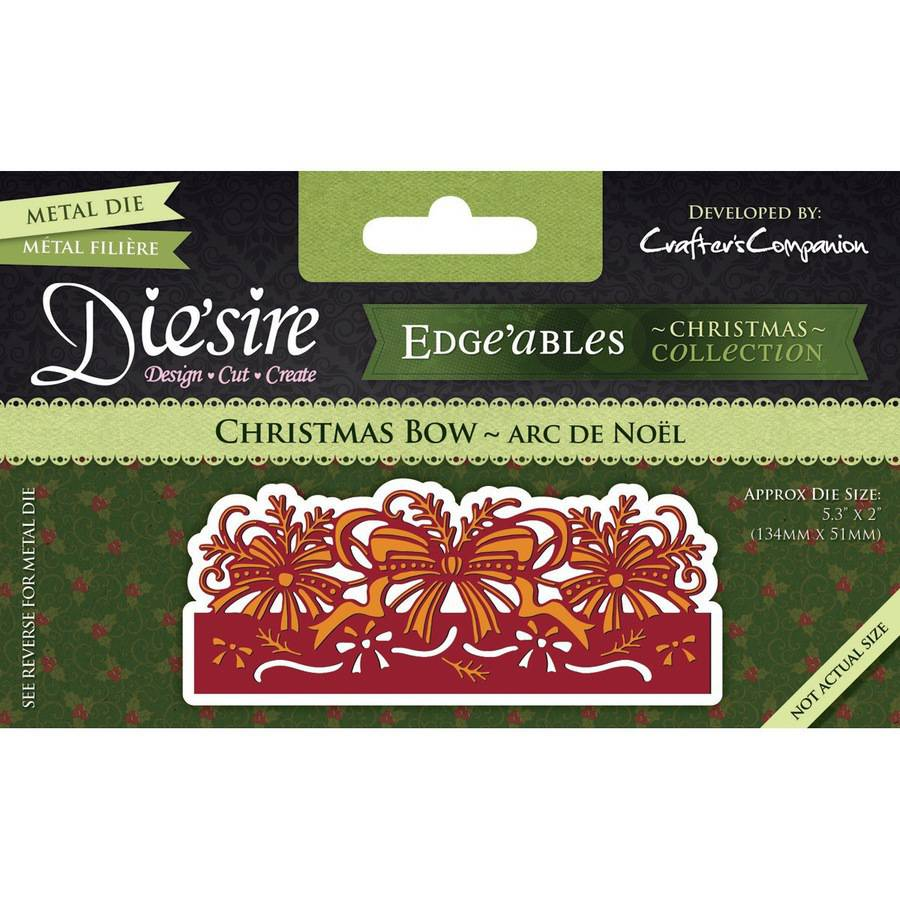 Die'sire Edge'ables Cutting & Embossing Die-Christmas Bow