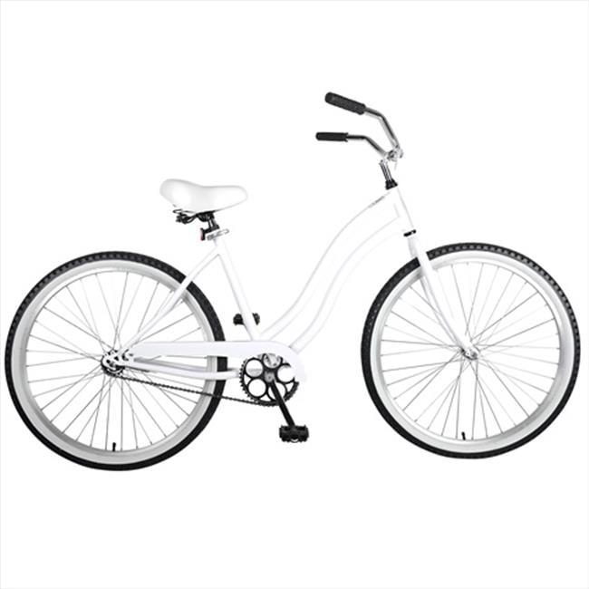 26 in. Ladies Cruiser Bike, White