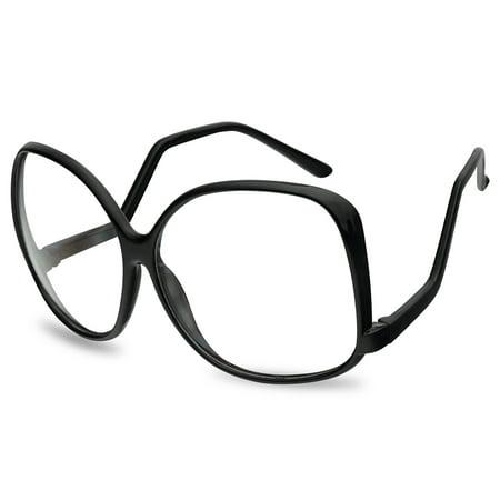Oversized XL Square Non Prescription Women's Barb Style Vintage Sunglasses UV400 Protection ()