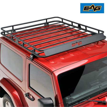 EAG Door Roof Rack Cargo Basket - fits 07-18 Jeep Wrangler