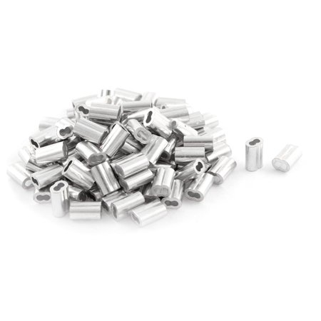 Silver Tone Aluminum Sleeve for 1.5mm Steel Wire Rope