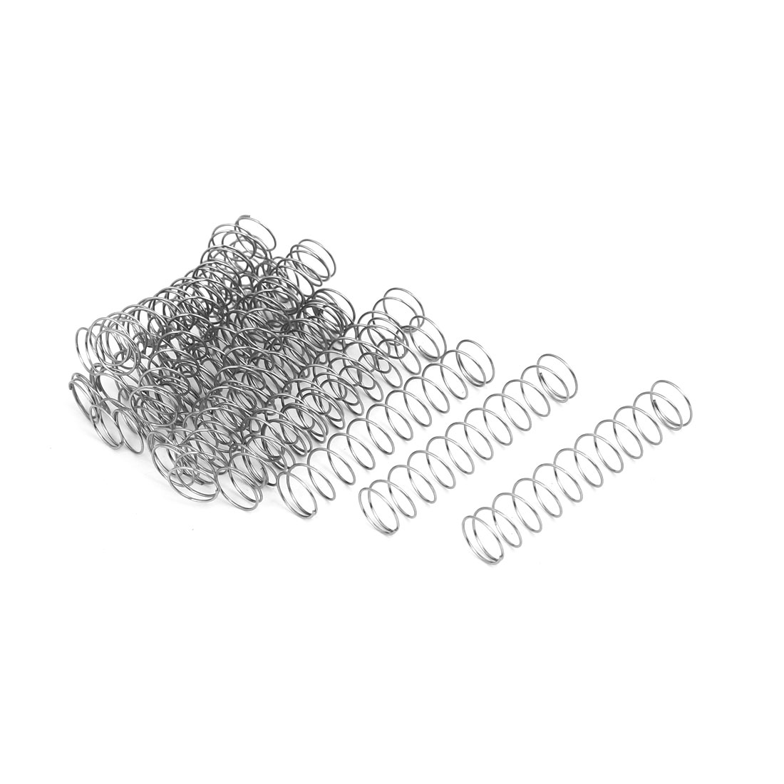 0.5mmx9mmx45mm 304 Stainless Steel Compression Springs Silver Tone 20pcs - image 3 de 3