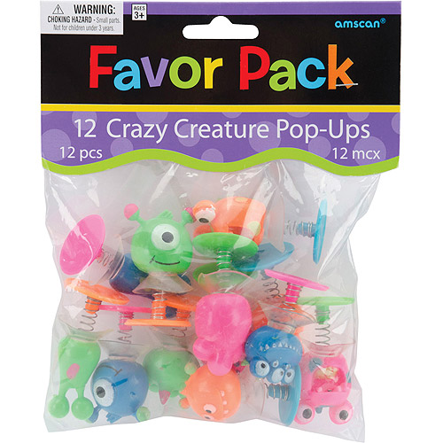 Amscan Party Favors, 12/pkg, Creature Pop-Up