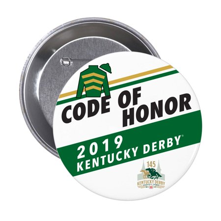 Code of Honor Kentucky Derby 145 Contender's Collection Button - White - No Size