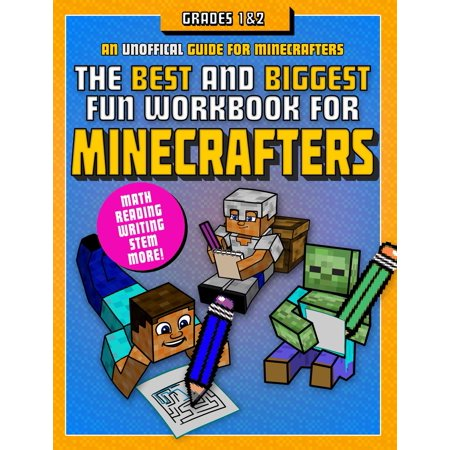 The Best and Biggest Fun Workbook for Minecrafters Grades 1 & 2 : An Unofficial Learning Adventure for (Best Ios Adventure Games)