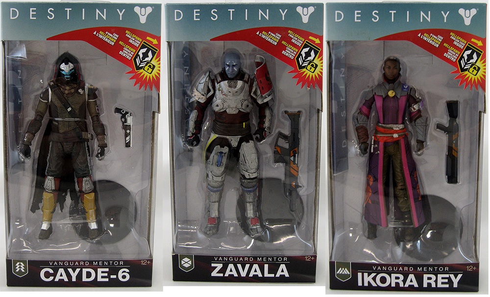 Destiny 2 7 Inch Action Figure - Set of 3 (Zavala - Ikora Rey - Cayde)