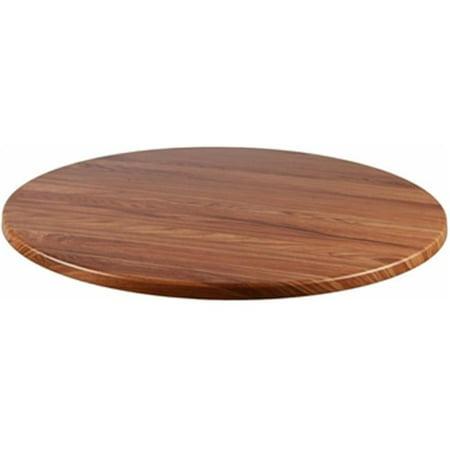 Teakwood Round Top - Source Contract SC-2601-425-TEK 36 in. Duratop Round Table Top, Teak
