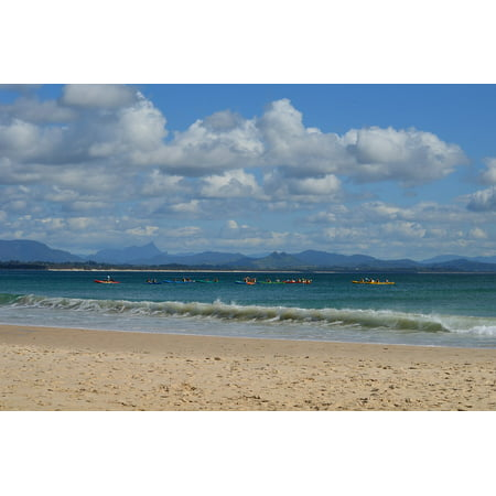Byron Bay Surf - Canvas Print The Pass New South Wales Byron Bay Surfing Beach Stretched Canvas 10 x 14