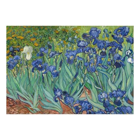 wall26 Irises by Vincent Van Gogh Dutch Impressionism 20th Century Artist Peel and Stick Large Wall Mural Removable Wallpaper Home Decor 66x96 inches