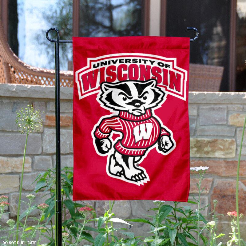 "Wisconsin Badgers Bucky 13"" x 18"" College Garden Flag"