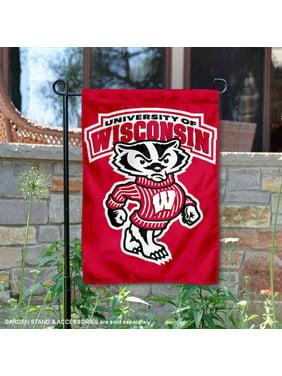 """Wisconsin Badgers Bucky 13"""" x 18"""" College Garden Flag"""