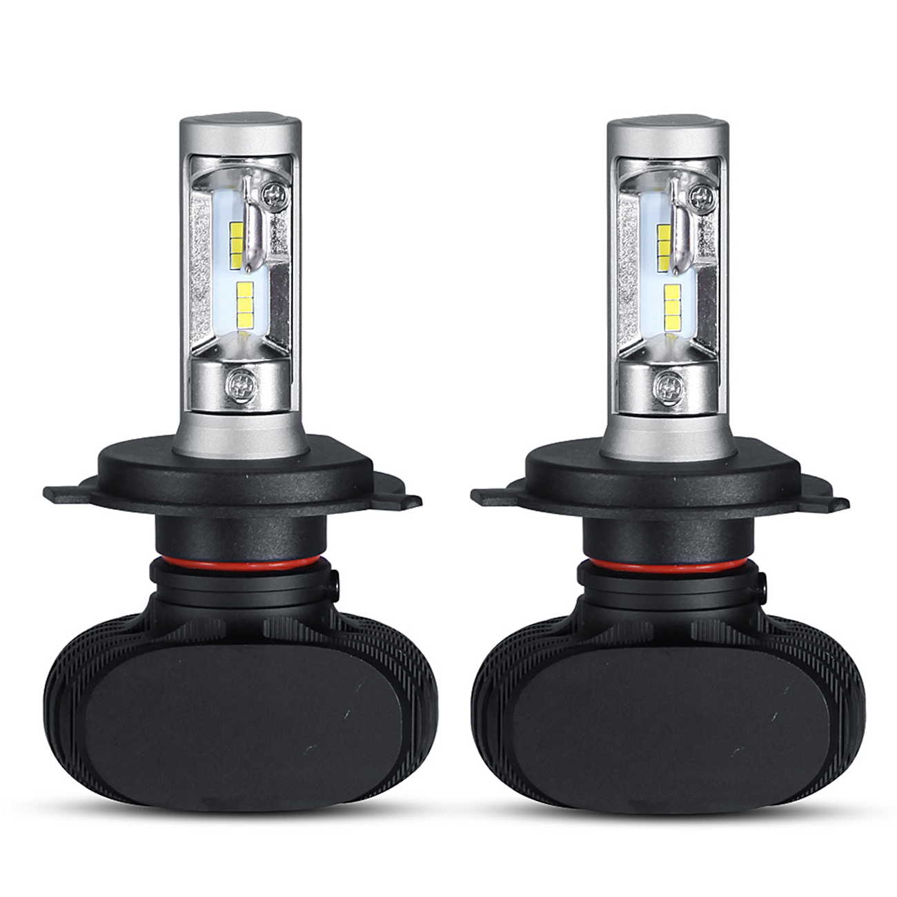 Oslamp 2pcs H4 HB2 9003 LED Headlight Bulbs for Cars Conv...