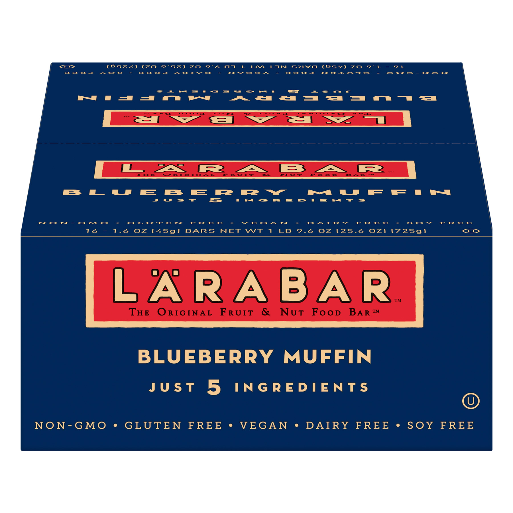 Larabar Gluten Free Blueberry Muffin Fruit and Nut Bars 16 ct, 25.6 oz
