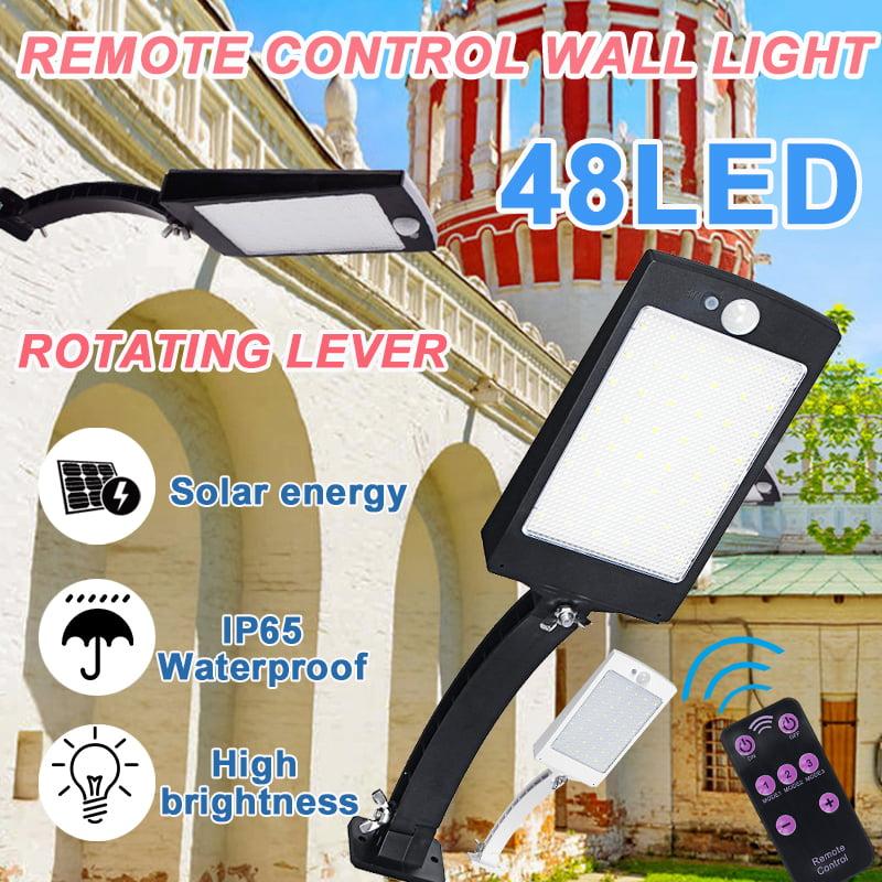 48LED Solar Light Powered Motion Sensor Outdoor Garden Security 2020 Lamp D2Y2