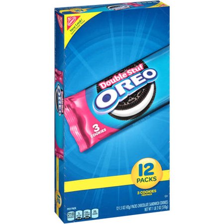 Nabisco Oreo Double Stuf Chocolate Sandwich Cookies, 1.5 oz, 12 ct