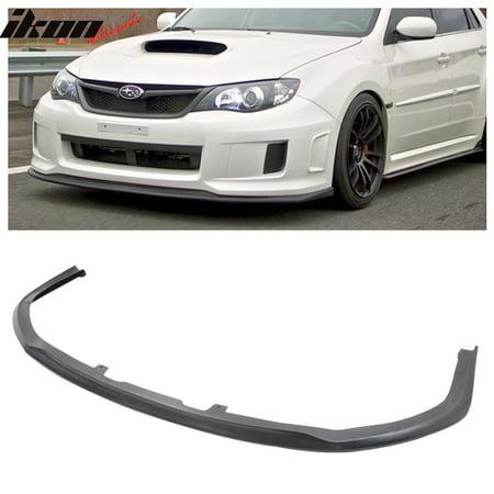 Compatible with 11-14 Subaru Impreza WRX STI CS1 Style Front Bumper Lip Spoiler Urethane PU