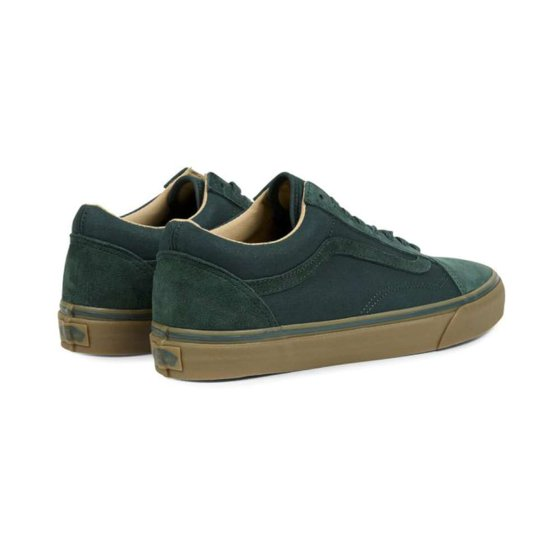 2a9f7a38360fff VANS - Old Skool Reissue Coated Green Gables   Medium Gum Ankle-High ...