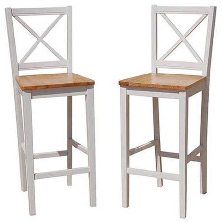 Virginia Cross Back 30  Bar Stool  Set Of 2  Multiple Colors