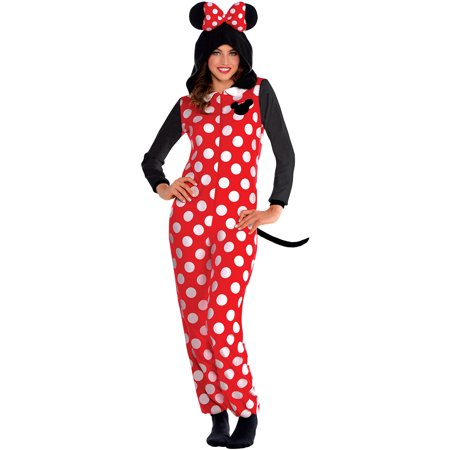Party City Zipster Minnie Mouse One Piece Halloween Costume for Women