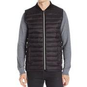 calvin klein new black men size medium m full zip packable puffer vest