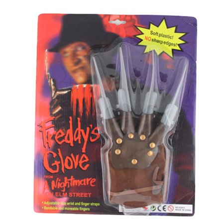 1pc Licensed Freddy Kruger Costume Gloves Halloween Costumes Masquerade Party Scary Toy Supplies Decor Accessory - image 4 de 6
