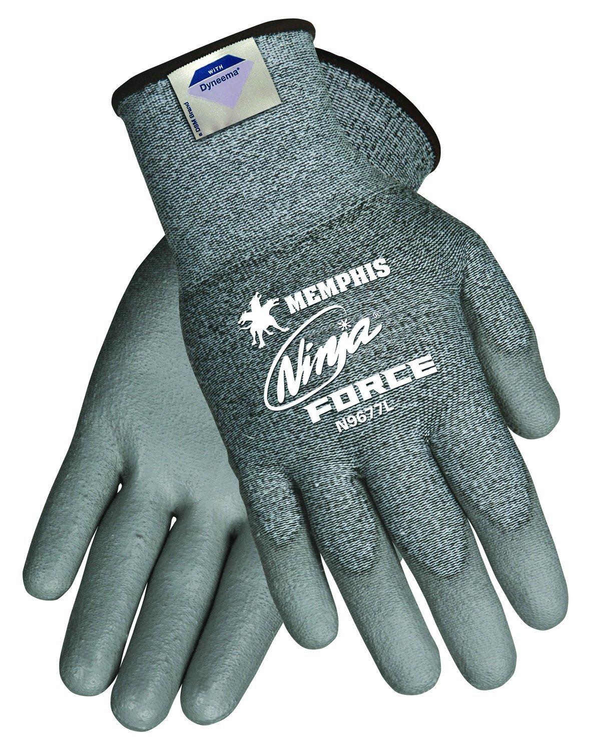 MCR SAFETY Cut Resistant Gloves,A3,2XL,Gray,PR N9677XXL