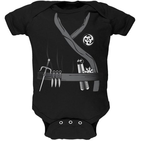 Halloween Ninja Assassin Costume Black Soft Baby One Piece (Assassini Halloween)