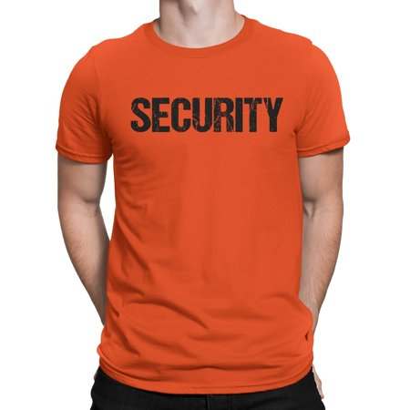 Halloween Bar Events Nyc (NYC FACTORY Security Tee Orange T-Shirt Mens Tee Staff Event Crew Shirt Front & Back Print)