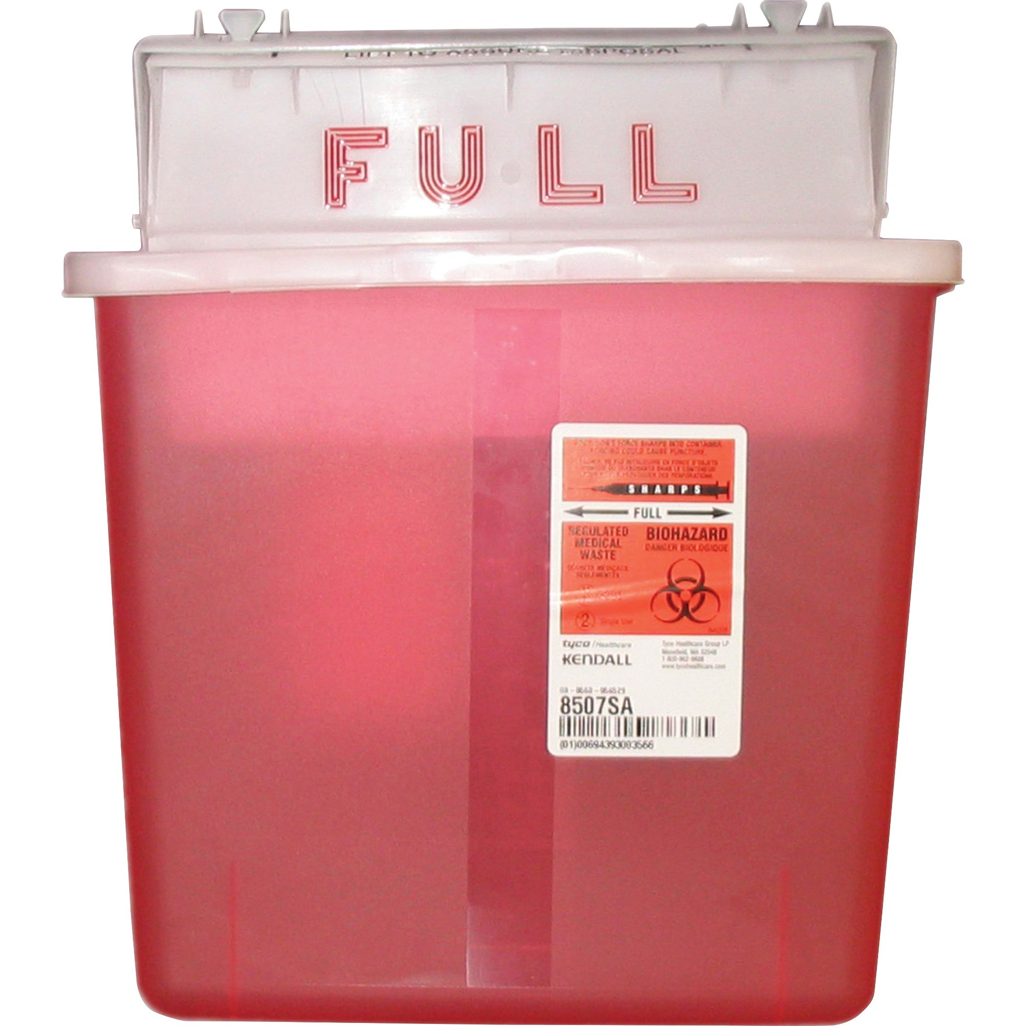 Covidien, CVDK5SS1007SA, Sharpstar 5 Quart Sharps Container with Lid, 1, Red