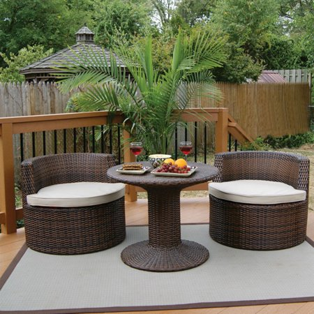 Deeco Deck Vino Wicker Set
