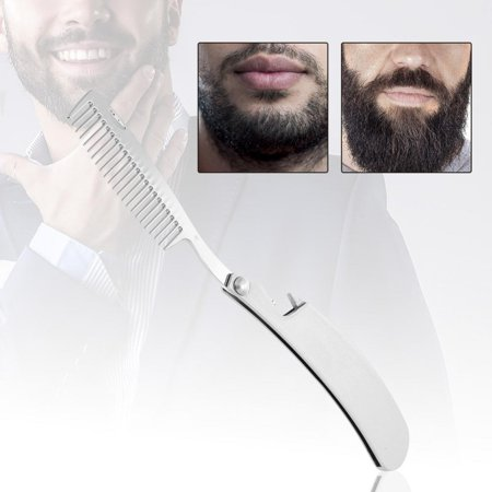 Portable Stainless Steel Beard Comb Portable Folding Mustache Tool Bottle  Opener , Bottle Opener , Folding Beard Comb
