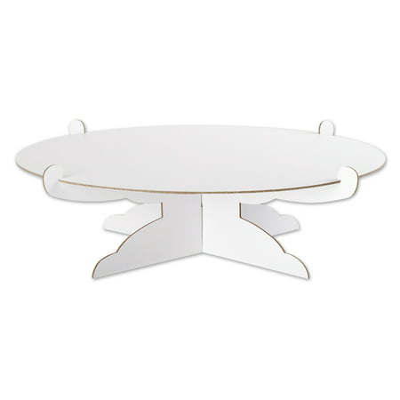Andaz Press 1 Tier Cake and Cupcake Stand, 13 Inch Round Cake Board, Disposable Cake Holder, Serving Platter (Two Tiered Halloween Cakes)