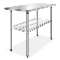 GRIDMANN Stainless Steel 49 in. x 24 in. Commercial Kitchen Prep & Work Table w/ Wire Undershelf