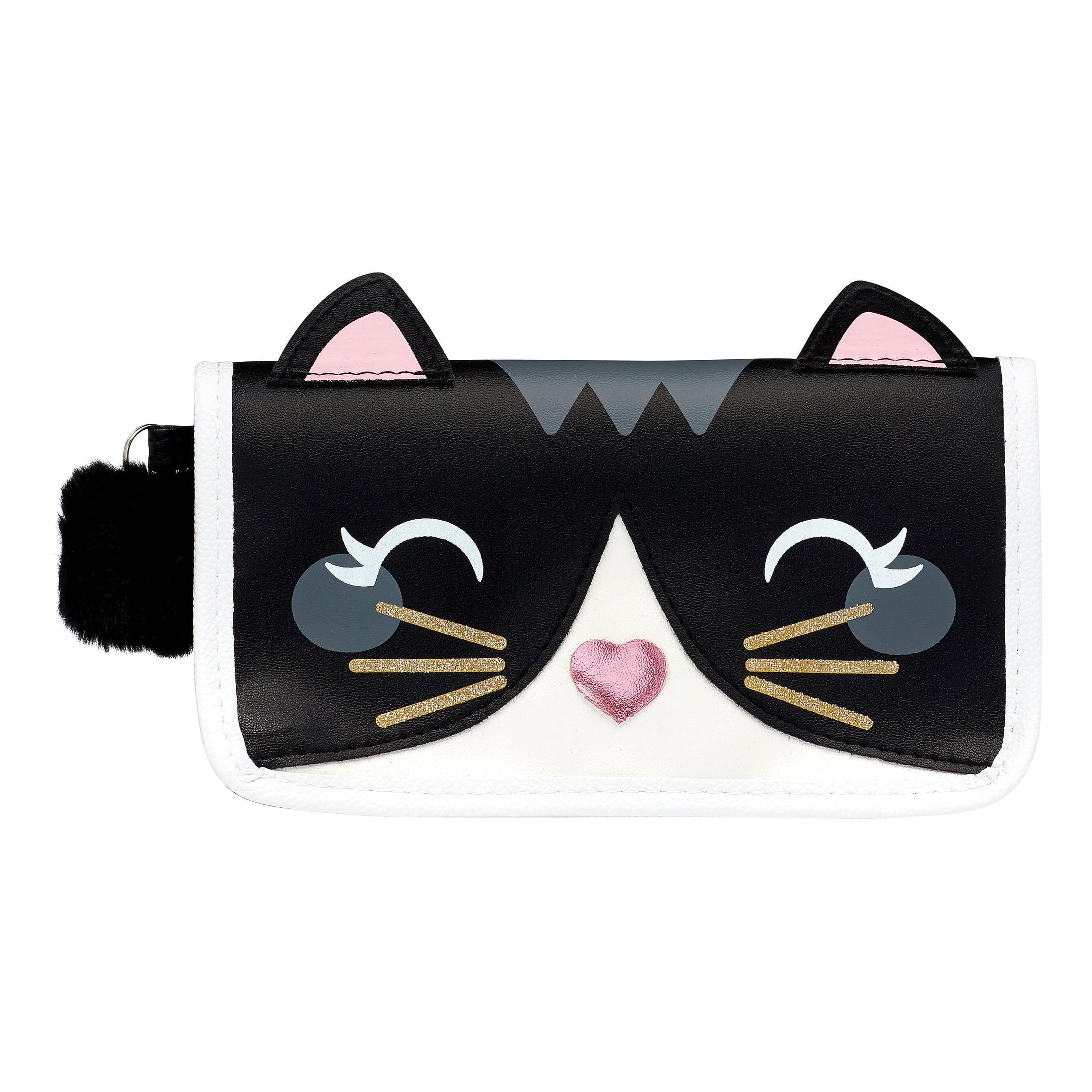U Style Critter Clutch Bag with Pom Pom, Kitty Cat ($11 Value)