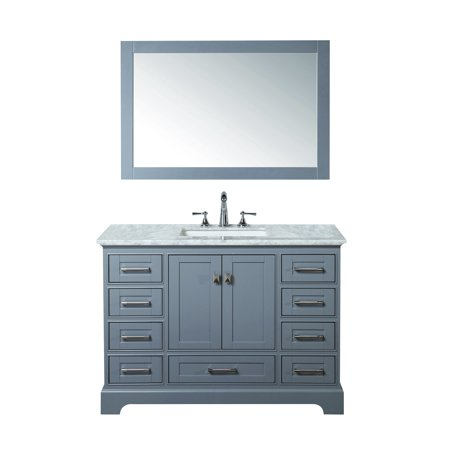 Stufurhome Newport Grey Inch Single Sink Bathroom Vanity With - 48 inch grey bathroom vanity