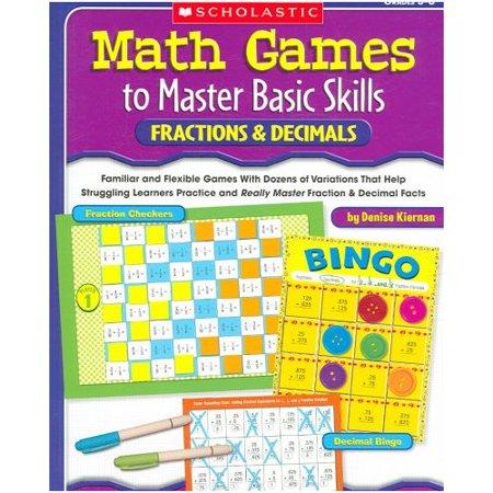 Math Games To Master Basic Skills  Fractions   Decimals  Grades 3 6