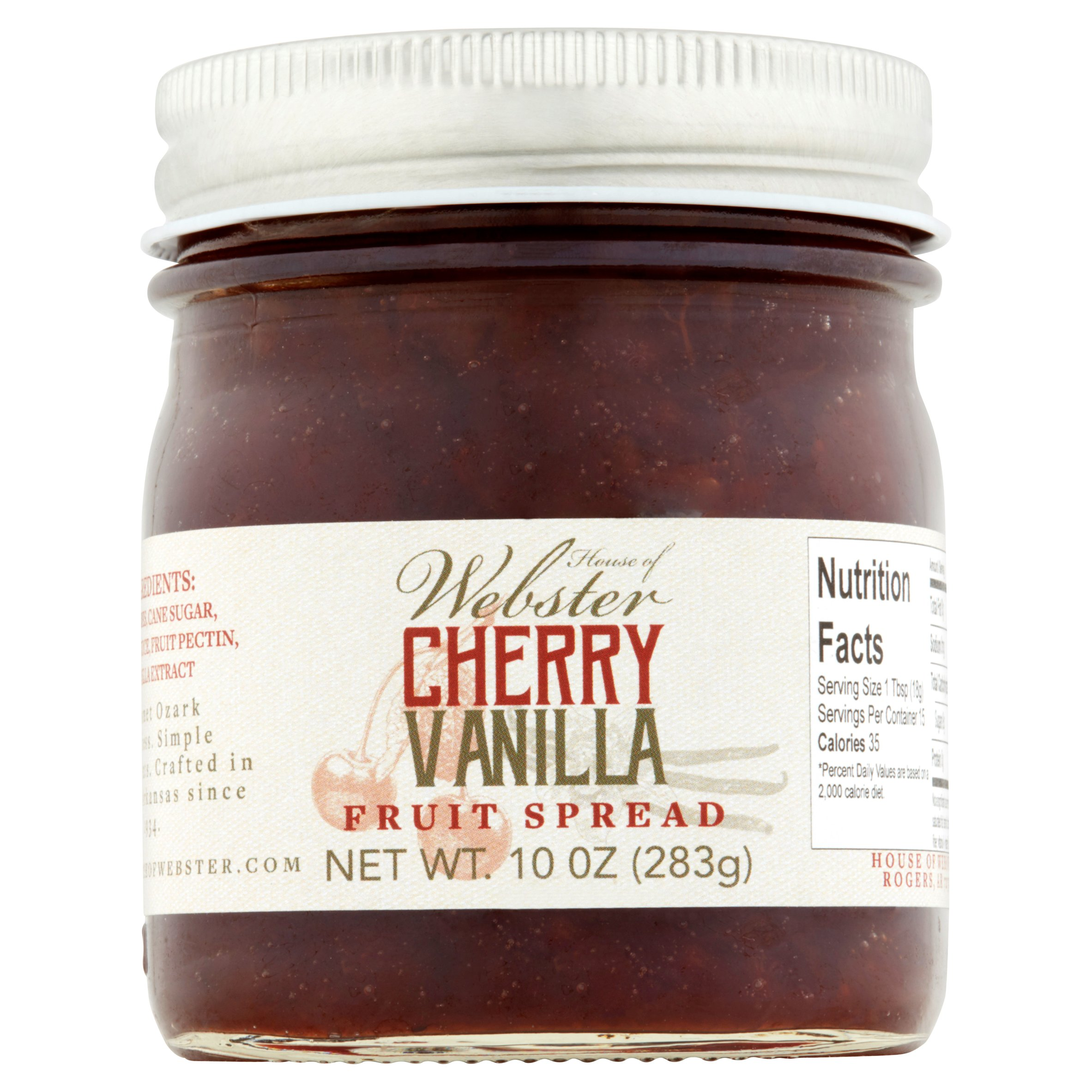 House of Webster Cherry Vanilla Fruit Spread, 10 oz
