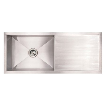 Whitehaus Noahs Collection 40 in. Commercial Single Bowl Reversible Undermount -