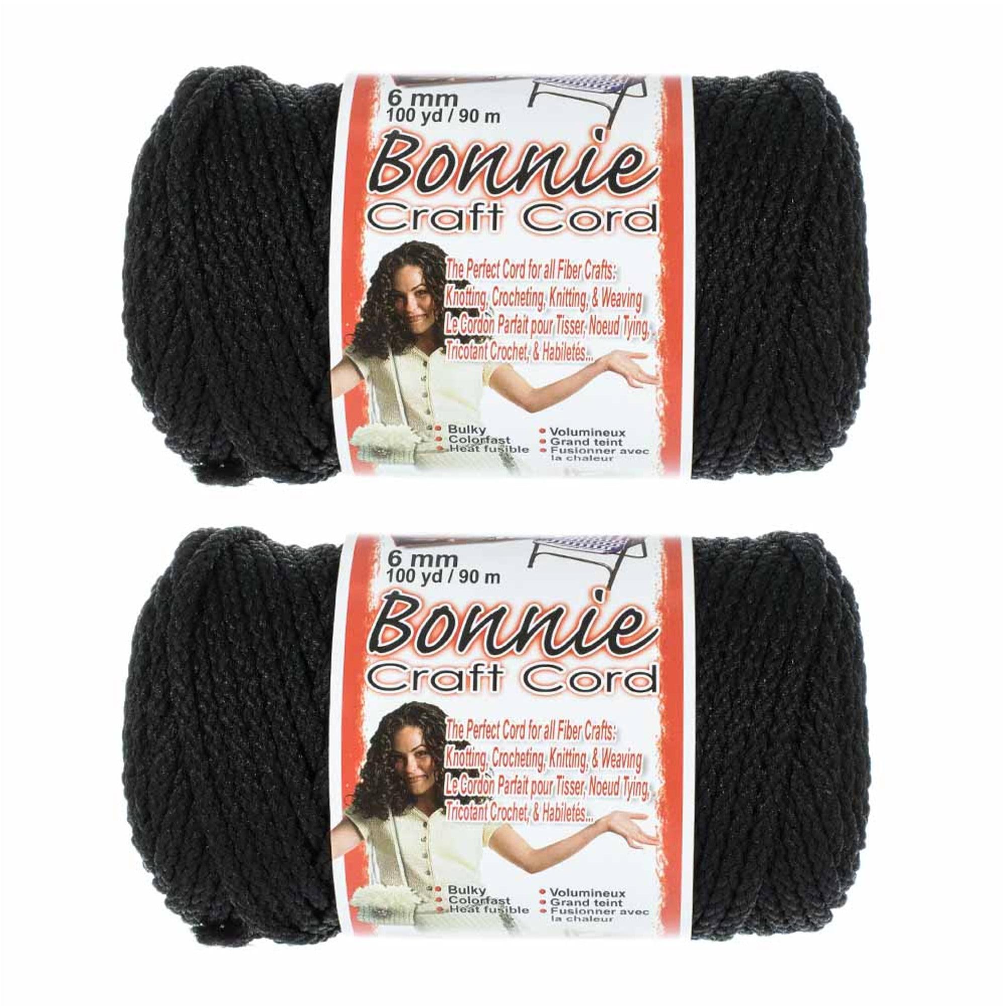 2 Pack Bonnie Macrame Cord - 6mm - 100 yd Lengths - Various Colors