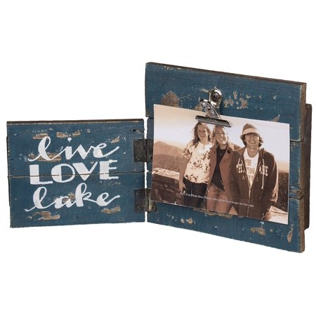 Primitives By Kathy Slat Wood Hinged Frame Live Love Lake 125 X