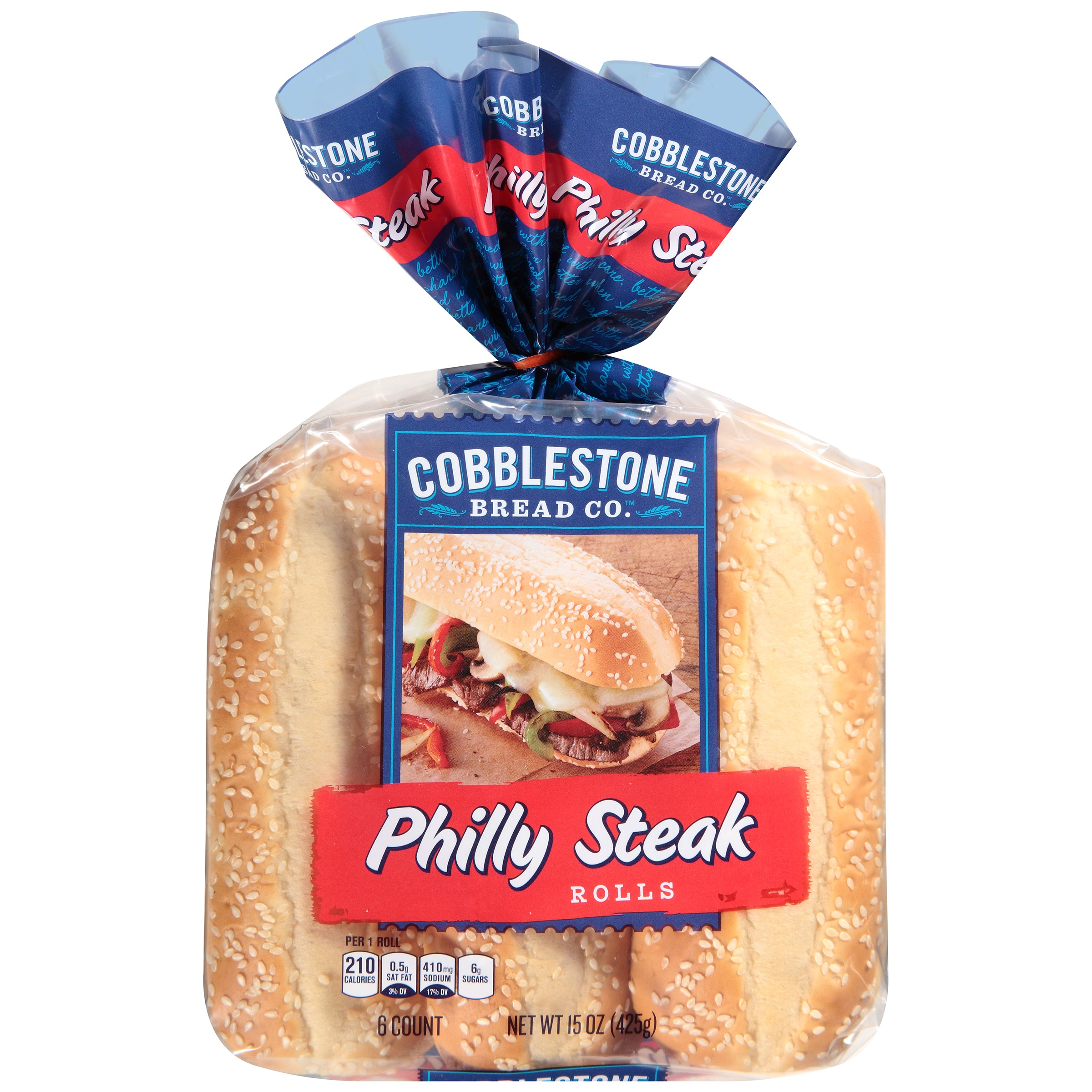 Cobblestone Bread Co.™ Philly Steak Rolls 15 oz. Bag
