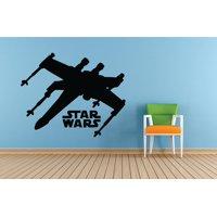 Air Craft Jet Star Wars Movie Series Children Kids Bedroom Boy Girl Silhouette Custom Wall Decal Vinyl Sticker 12 Inches X 12 Inches