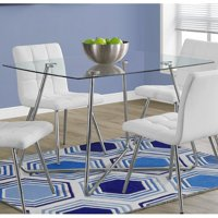 """Monarch Dining Table 36""""X 48"""" / Chrome With 8MM Tempered Glass"""