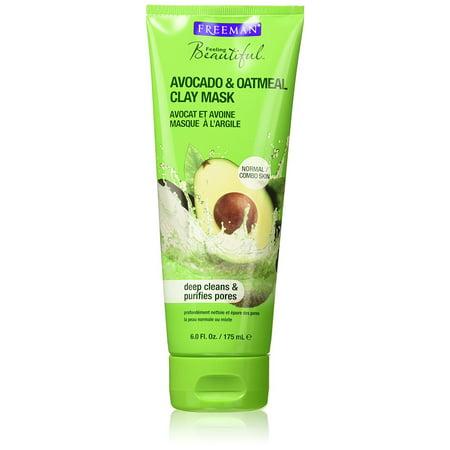 Freeman Avocado & Oatmeal Clay Facial Masque, Purifying - 6 oz
