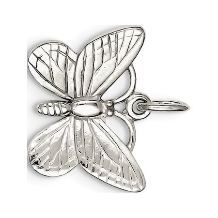 925 Sterling Silver Butterfly (25x20mm) Pendant / Charm