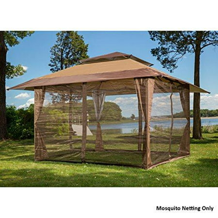 10' x 10' mosquito netting panels for gazebo canopy