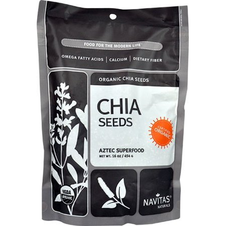 Navitas Naturals Organic Raw Chia Seeds, 1 Pound