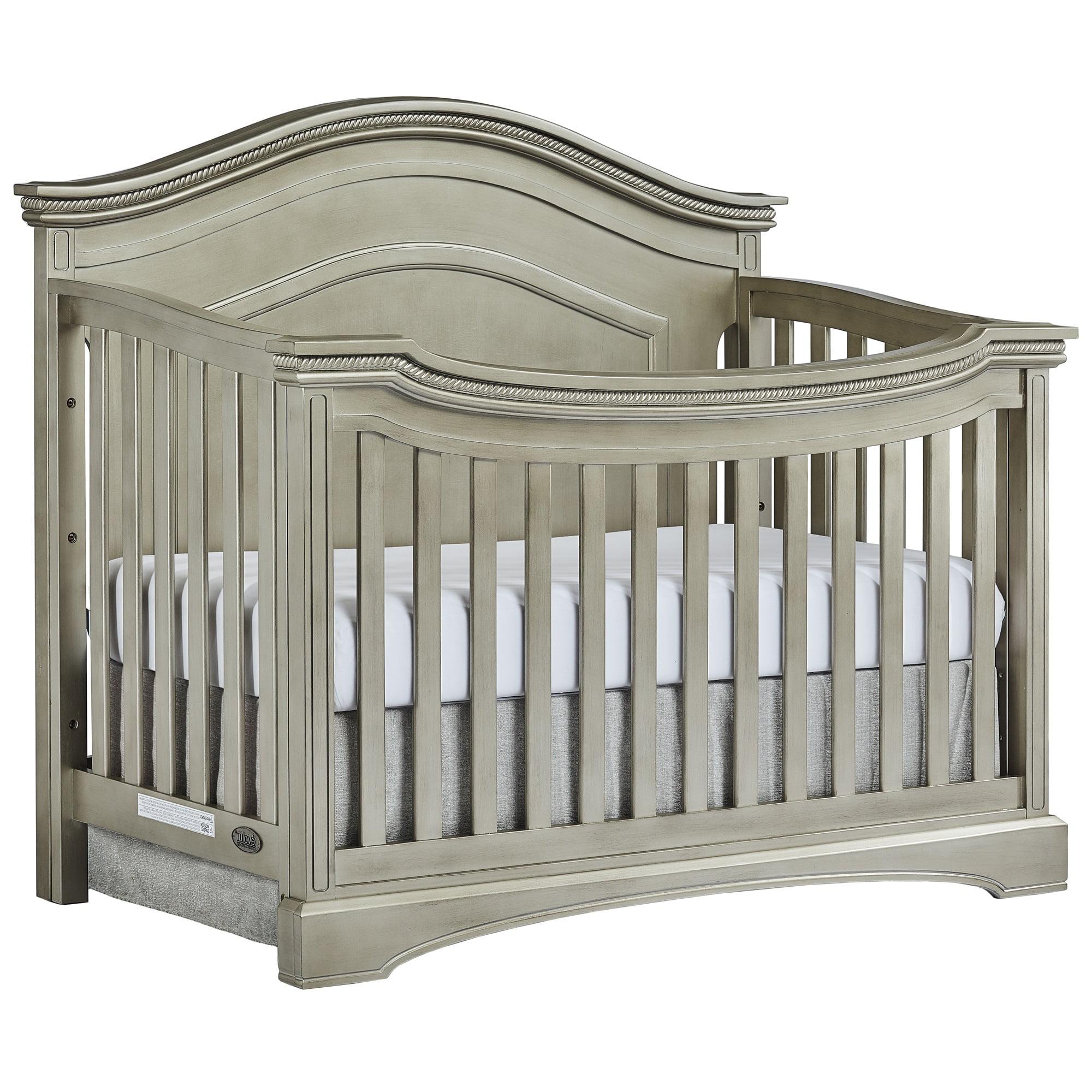 Evolur Adora Curve Top Convertible Crib, Storm Gray by evolur
